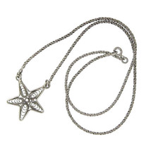 "¦925 sterling Silver Bali Star 16"" Necklace » CH110 - $27.58"