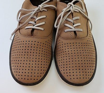 Merrell Shoes Flats Tan Select Grip Lace Up Perforated Oxford Womens Size 9/40