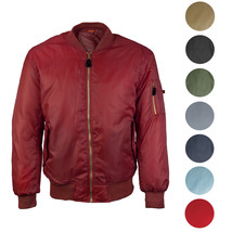 Men's Premium Multi Pocket Water Resistant Padded Zip Up Flight Bomber Jacket