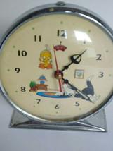 Vtg Warner Brothers 1994 Sylvester Tweety Bird Wind Up Alarm Clock Worki... - $46.74