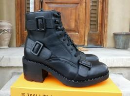 Combat Style Leather Boots by ASH, size 36EU, black color  - $212.85