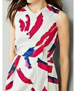 GAP Paint Palette V Neck Fit & Flare Dress NWT Designed & Crafted Red Wh... - $33.37