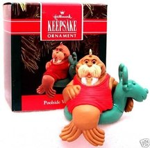 Hallmark Keepsake Poolside Walrus 1990 Christmas Ornament by Hallmark Keepsake - $17.81