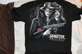 GANGSTER ORIGINAL LADY MACHINE GUN CITY T-SHIRT - $11.65