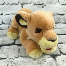 Vintage Lion Cub Plush Golden Young Posed Pouncing Stuffed Animal Soft Toy Cat - $14.84