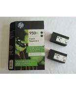 OPEN PACKAGE --Genuine New Pack of 2 HP 950XL Black Ink Cartridges Exp 0... - $24.99