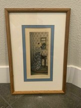 Antique Victorian Style Signed Picture Print Vanity Colored D. Davidson ... - $95.99