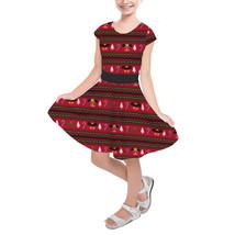 Christmas Mickey & Minnie Sweater Pattern Disney Inspired Girls Short Sleeve Ska - $39.99 - $42.99