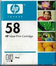 HP Hewlet Packard Photo Ink Cartridge 58 Sealed in Box Exp Dec 2005 Inkjet - $14.84
