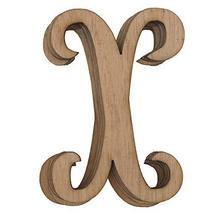 Wooden Cursive Alphabet Letters, Natural, 3-Inch, 6-Piece #PS_16711 (X) - $13.86