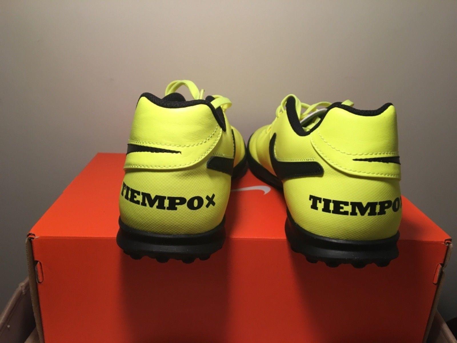 77174c9aeb5 Men s Nike Tiempox Rio TF 819237 707 size 10 Yellow Indoor Soccer Shoes