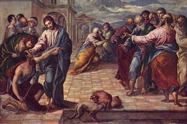 Christ healing the blind by El greco #2 - Art Print - $19.99+