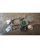"Antik 7 "" Sterling Silber Bettelarmband Mickey Disney Zug Brücke - $83.15"
