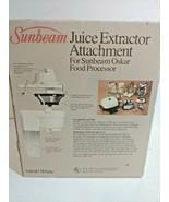 NOS JUICER JUICE EXTRACTOR Attachment 94690 for Sunbeam OSKAR 14081 NEW ... - $54.44
