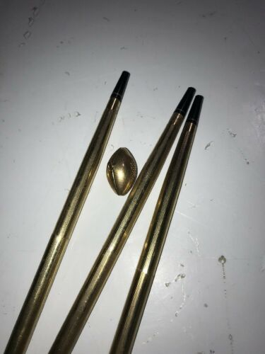 Vintage lot of three 10k gold filled Cross pens and 1/20 gold football