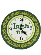 Vintage Celtic Irish Time Clock Green White MWW Manual Woodworkers & Wea... - $9.89