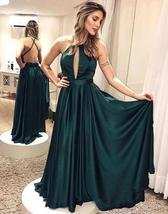 2017 formal teal backless long prom dress ball gowns prom gowns party dr... - $159.00