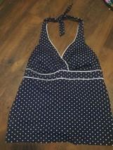 Jantzen Classic swim top only. Royal blue with little dots. Open back si... - $9.88