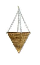 19cm Seagrass Cone Hanging Basket Garden Plant Flower Pot Hang Patio Square - $10.03