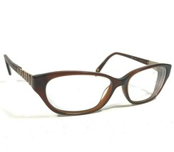 Nine West Eyeglass Frames Clear Havana Brown Cats Eye Striped NW5058 200 135 - $23.38