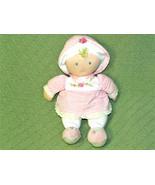 "12"" Kids Preferred Pink BABY DOLL Plush Blond Blue Eyes Rose Bud Dress H... - $19.80"