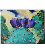 Original Acrylic Painting Prickly Pears Southwest by Artist Desert Cactu... - $37.00