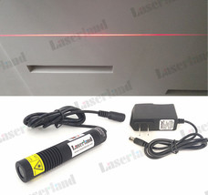 18x100mm Waterproof 650nm 658nm 50mW Red Line Laser Module Diode  + adapter - $18.23