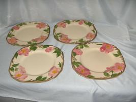 4 Vintage Square Salad Plate Franciscan China Stoneware Desert Rose Engl... - $64.35