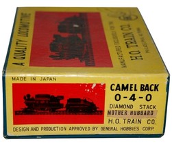 Train CO. HO Quality Locomotive 0-4-0 Camel Back Diamond Stack Mother Hubbard
