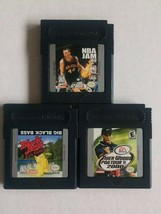 Lot of 3 Sports Nintendo Game Boy Color: Tiger Woods, NBA Jam, Big Black... - $5.94