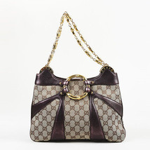 "Gucci Original GG Canvas ""Bamboo Chain"" Shoulder Bag - $905.00"