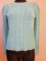 Women's Ralph Lauren Cable Knit Sweater Light Blue Pullover Size XS Extr... - $19.59