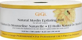 GiGi Natural Muslin Roll for Hair Waxing/Hair Removal, 3.25-inch x 100 yards