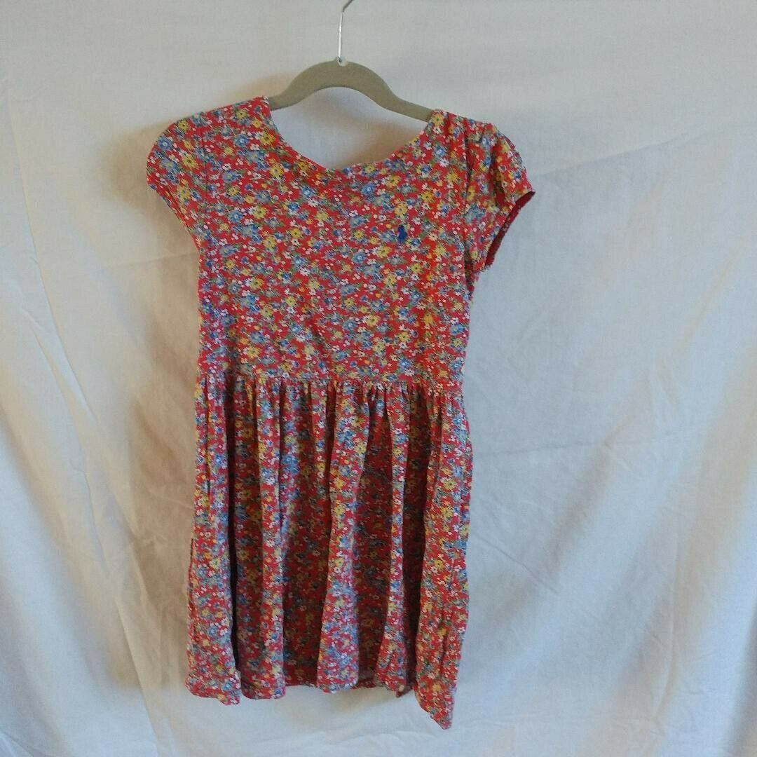 Primary image for Ralph Lauren Polo Girls Sz. 6 Red Floral Dress
