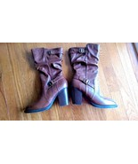 Nue Options Brown Boots - Size 8.5M - Chunky Heel Barley Worn - 4527-Vic... - $18.99