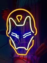 "New Iron Man Movie Comic Wall Decor Acrylic Back Neon Light Sign 14"" Fas... - $60.00"