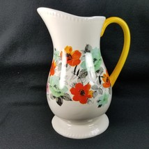 The Pioneer Woman Flea Market Decorated Floral 2 Quart Large Pitcher Emb... - $22.24
