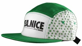 Yea Nice Plantes Flore Weed Marijuana 5 Panneau Strapback Baseball Chapeau Nwt image 2