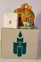 PartyLite Pumpkin Patch Village House Tea Light Holder P7303 EUC - $14.84