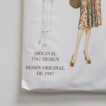 Vogue V9126 Vintage Model Dress Pattern 1947 Design Size A5 6-14 image 5