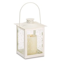 Gallery of Light Candle White Lantern, Antique Decorative Iron Large Met... - $20.62