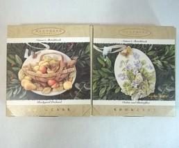 Hallmark Keepsake Ornament Natures Sketchbook Lot of 2 Showcase 1995 - $19.75