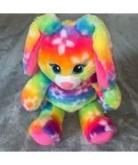 Build A Bear Workshop BAB Bright Blooms Rainbow Tie Dye Easter Bunny Rab... - $28.00