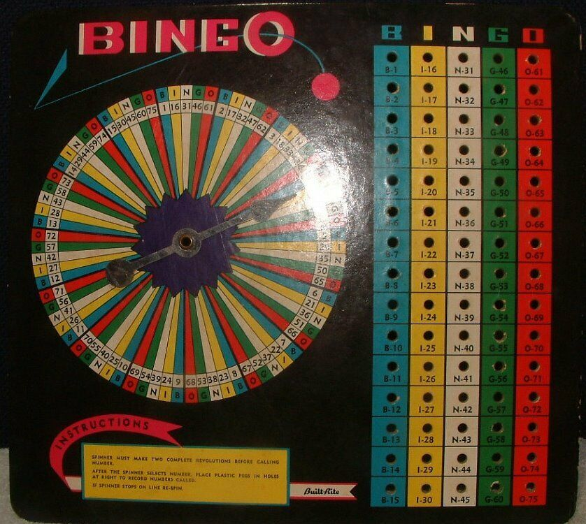 Vintage 1950's Built-Rite BINGO Complete Game Set #116