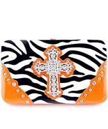 Gorgeous! Soft Zebra Rhinestone Cross Flat Wallet Clutch Purse in Multi-Color (O - $14.69