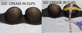 Calvin Klein F3719 Seductive Comfort Customized Lift Strapless Bra BLACK 32D 32C - $19.35