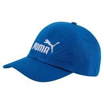 Puma Cap Red Big Cat Embroidered Logo Blue Hat 6 Panel Cotton Unisex Adu... - $18.10