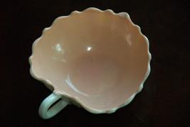Pink Milk Glass Oyster Pearl Nappy Leaf Candy Dish Vitrock Retro Hazel Atlas - $29.99
