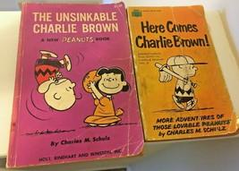 1967 Vintage Peanuts Paper Back Books Charlie Brown Charles Schulz Lot 2 - $24.99