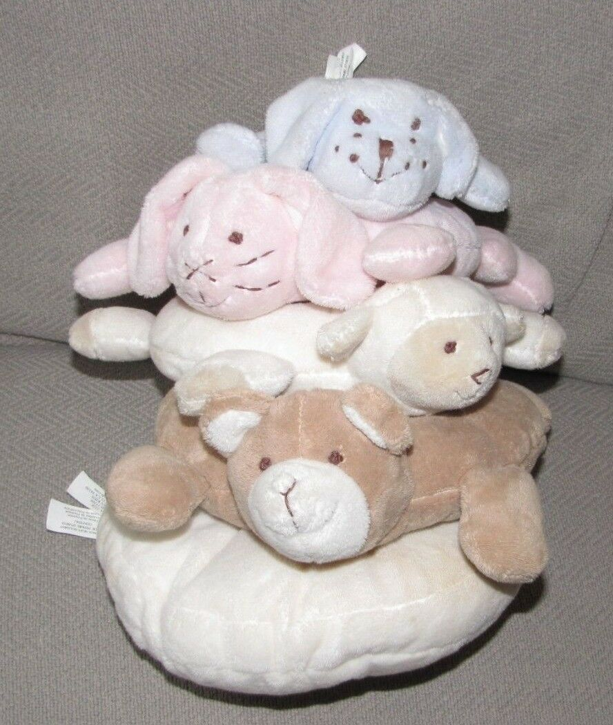 Primary image for Pottery Barn Kids Plush Critter Animal Ring Stacker Stacking Baby Toy Pastel
